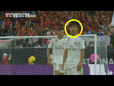 Takefusa Kubo Real Madrid Debut vs Bayern Munich