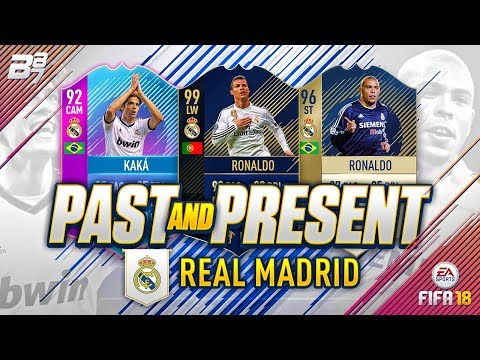 PAST AND PRESENT REAL MADRID SQUAD BUILDER! | FIFA 18 ULTIMATE TEAM