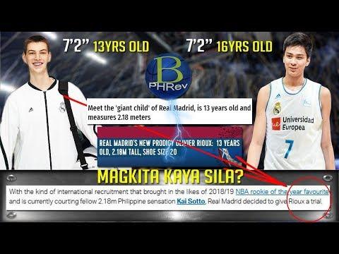 """May 7'2"""" player na ang Real Madrid , magkita kaya sila ni Kai Sotto?"""