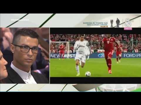 Cristiano Ronaldo reaction to his Best Moments of the Real Madrid  07/11/2016