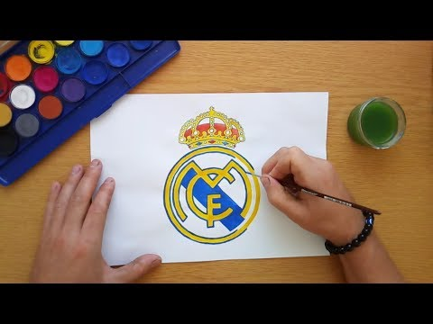How to draw the Real Madrid logo – Cómo dibujar el logo de Real Madrid