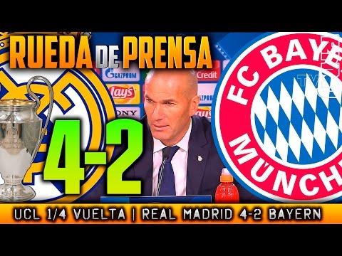 Real Madrid 4-2 FC Bayern München Champions Rueda de prensa Zidane