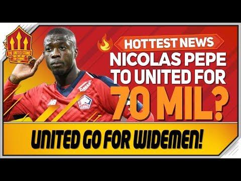 Gareth Bale to United? Nicolas Pepe 70 Million Bid? Man Utd Transfer News