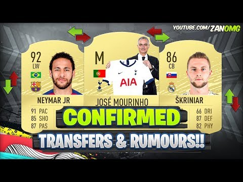 FIFA 20 | NEW CONFIRMED TRANSFERS & RUMOURS!! 😱🔥 | FT. NEYMAR, MOURINHO, SKRINIAR..