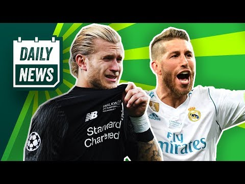TRANSFER NEWS: Neymar talks Real Madrid rumours + Karius death threats and petition to ban Ramos