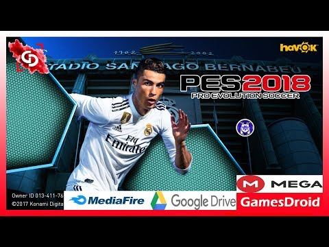Download Pes 2018 Mobile Mod For Android 2.3.2 Patch Real Madrid best graphics