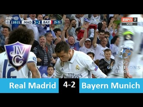 Real Madrid 4-2 Bayern Múnich 18/04/17  hat-trick de Cristiano  (Relato Miguel Simón)  UCL 2017