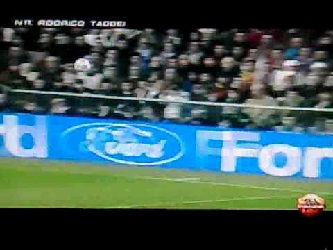 real madrid – Roma 1 -2; taddei 0 – 1telecronaca Spartà Righetti