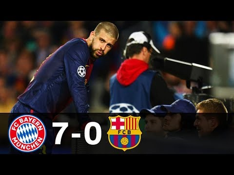 Bayern Munich vs Barcelona 7-0 UCL 2013 Semifinal (both legs) Highlights HD