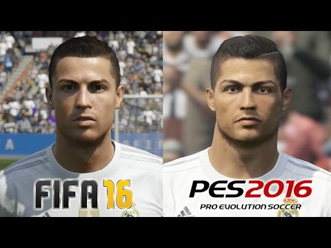FIFA 16 vs PES 2016 REAL MADRID Face Comparison
