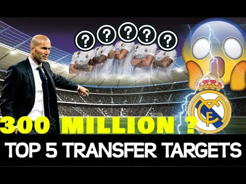 Real Madrid 2019 Top 5 Transfer Targets | Latest Transfer News 2019