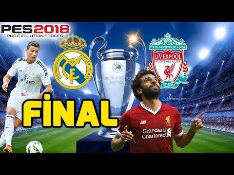 REAL MADRİD-LİVERPOOL ŞAMPİYONLAR LİGİ FİNAL MAÇI | PES 2018