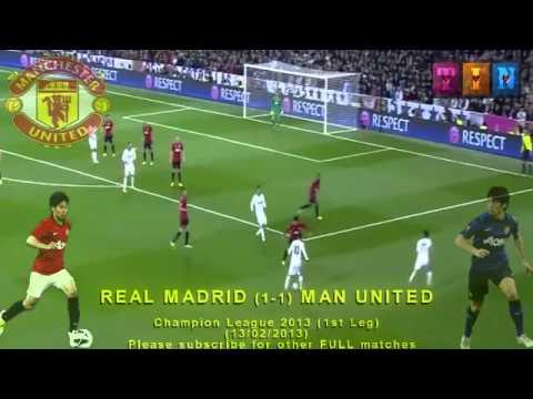 FULL 1st Leg – REAL MADRID vs MAN UNITED 1-1 (13/02/2013) Champion League