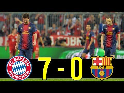 Most Humiliating Match For Barcelona : 2012-13 Champions League Bayern Munich vs Barcelona Highlight