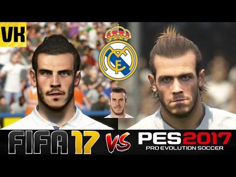 FIFA 17 VS PES 2017 VS REAL LIFE REAL MADRID PLAYER FACES COMPARISON (Bale, Ronaldo etc)