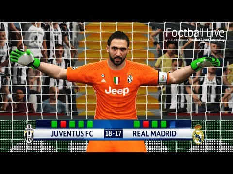 PES 2017 | goalkeeper C.RONALDO vs goalkeeper HIGUAIN | Penalty Shootout | Juventus vs Real Madrid