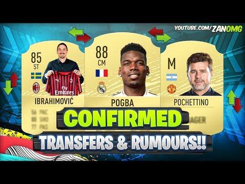 FIFA 20 | NEW CONFIRMED TRANSFERS & RUMOURS!! 😱🔥 | FT. POGBA, IBRAHIMOVIC, POCHETTINO..