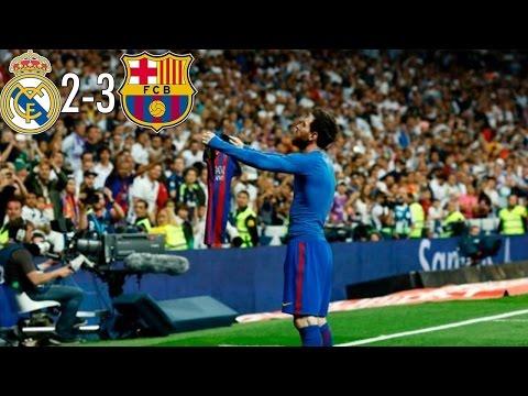 Bernabeu'da Messi Şov! | Real Madrid 2-3 FC Barcelona | Maç Özeti, Türkçe Spiker | 23 Nisan 2017