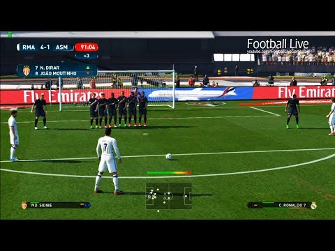 PES 2017 | Real Madrid vs AS Monaco | Cristiano Ronaldo Free Kick Goal & Full Match | Gameplay PC