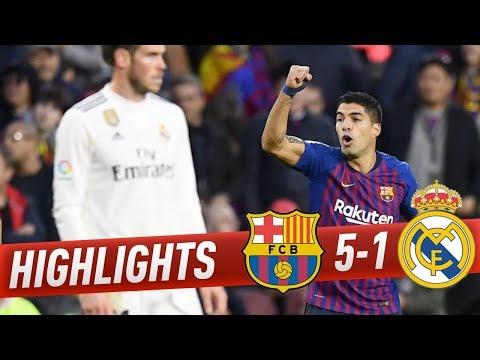 Barcelona vs Real Madrid Full Highlights ! 5-1