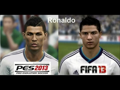 PES 2013 vs FIFA 13 FACE Comparison REAL MADRID