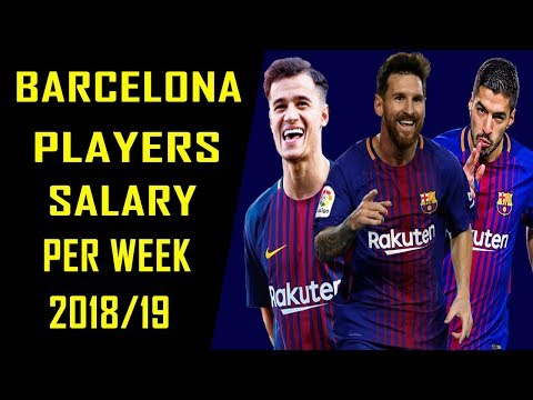 Barcelona Football Players Per Week Salaries 2018/2019
