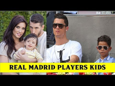 Real Madrid Football Players with Their Kids