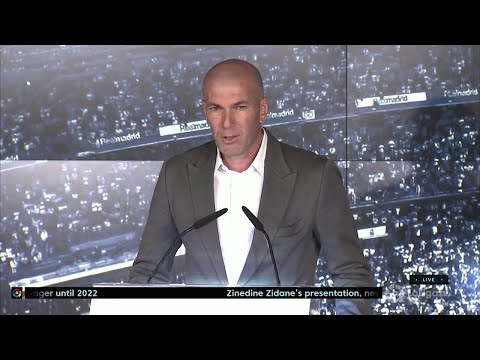Zinedine Zidane unveiled as Real Madrid manager – Full Press Conference