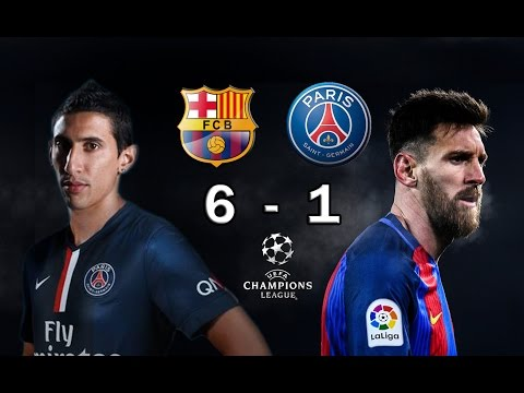 BARCELONA 6 vs PSG 1 – Champions League Octavos Final 2017 – VATICINIO 08/03/2017