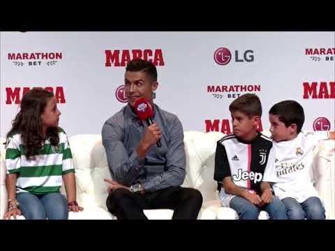 """Cristiano se sinceró ante los niños: """"Yo también echo de menos el Madrid"""""""