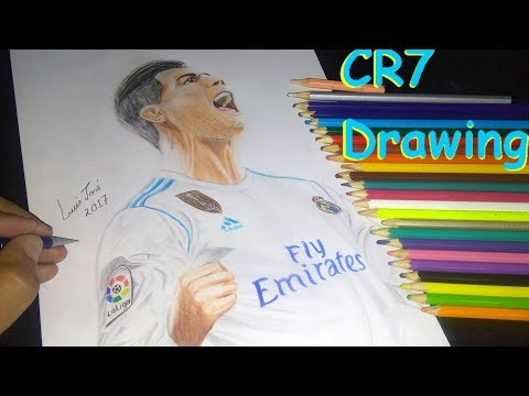 CRISTIANO RONALDO – CR7 DO REAL MADRID CAPA DA FIFA 2018 – speed drawing – Desenho realista