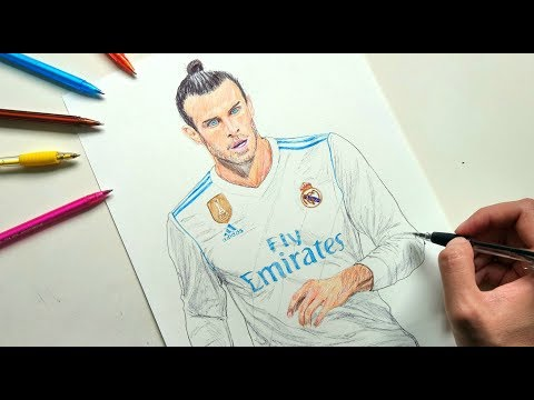 Gareth Bale Pen Drawing – Real Madrid