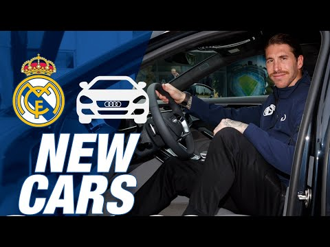 Zidane, Ramos, Hazard and Real Madrid players receive their new Audi!
