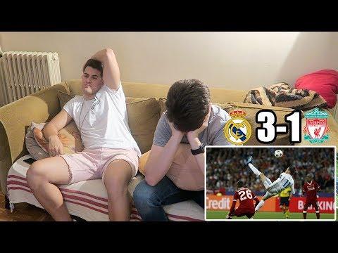 HINCHA DEL FC BARCELONA REACCIONA AL REAL MADRID 3-1 LIVERPOOL | Champions League