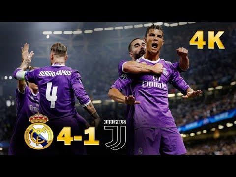 Real Madrid vs Juventus 4-1 final 4K Highlights