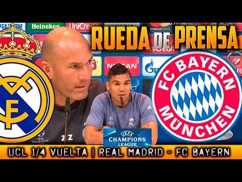 Real Madrid – FC Bayern München Rueda de prensa Champions Zidane y Casemiro