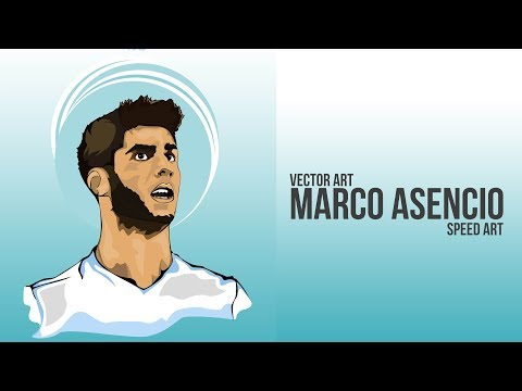 Marco Asencio | Vector Art | Speed Art | Real Madrid | Football Poster Design| GraphicsD(#Photoshop)