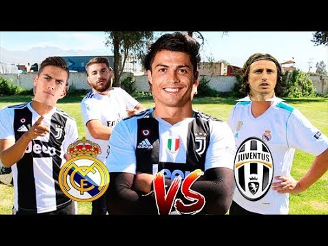 !! EPIC RETO DE FÚTBOL!! Juventus vs Real Madrid