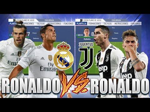 REAL MADRID DE CRISTIANO RONALDO VS JUVENTUS DE CRISTIANO RONALDO | Experimentos Fifa 19