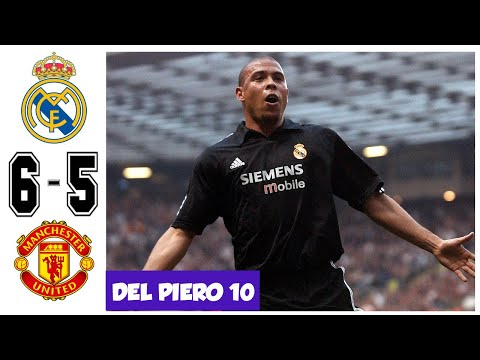 Real Madrid vs Manchester United 6-5, Best UCL Match – All Goals and Highlights – UCL 2003
