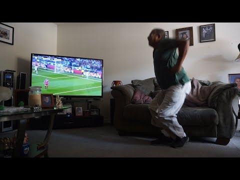 My dad's HILARIOUS reaction to Karim Benzema's beautiful header against Bayern Munich