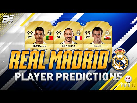 REAL MADRID PLAYER RATING PREDICTIONS w/ RONALDO AND BALE! | FIFA 17