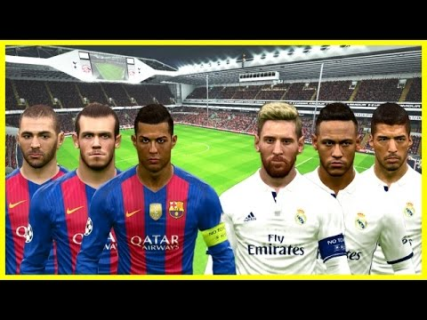 What If Barcelona and Real Madrid Swapped All Players ? PES 2017 Gameplay PC