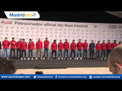 Real Madrid players receive their new Audis