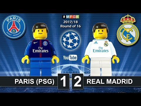 Paris Saint-Germain PSG vs Real Madrid 1-2 • Champions League 2018 (06/03/2018) Goals Lego Football