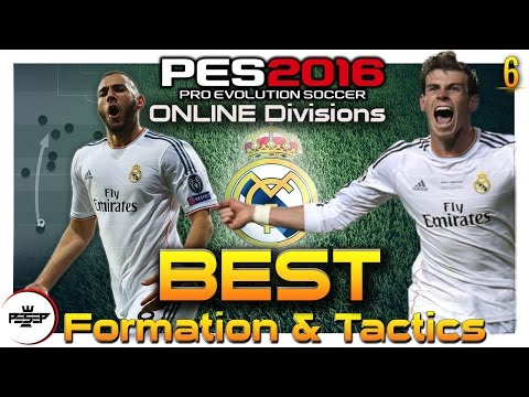 PES 2016 BEST  Game-plan FORMATION & TACTICS ( REAL MADRID Online Divisions)