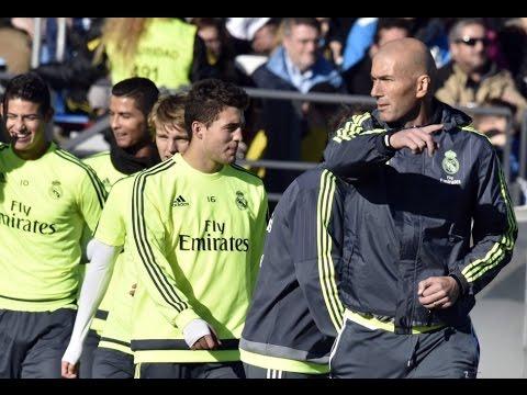 Primer entrenamiento de Zidane como técnico del Real Madrid • 2016