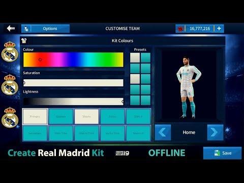 How to Make Real Madrid Kit Offline – Dream League Soccer 2018