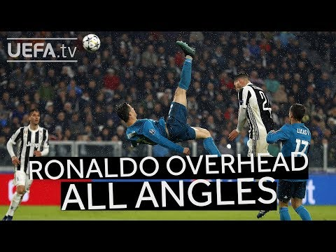 CRISTIANO RONALDO OVERHEAD KICK FROM ALL ANGLES!! #GoalOfTheSeason