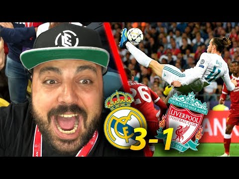 Real Madrid 3 Liverpool 1 ¡INCREÍBLE CHILENA BALE| Final Champions League